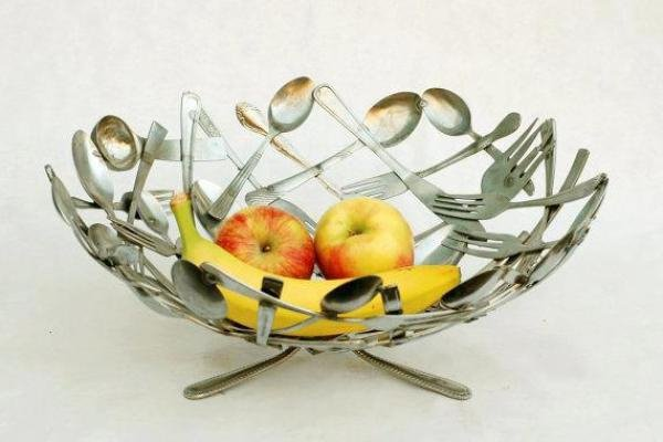 creative-upcycling-ideas-cutlery-upcycling-fruit-bowl