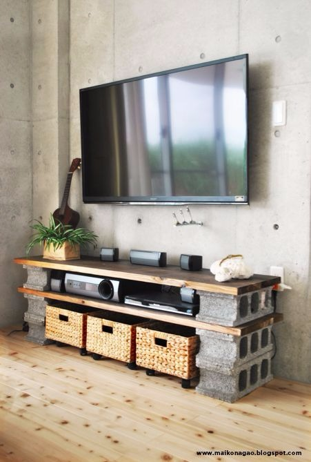 Rack para TV. Fonte: Pinterest.